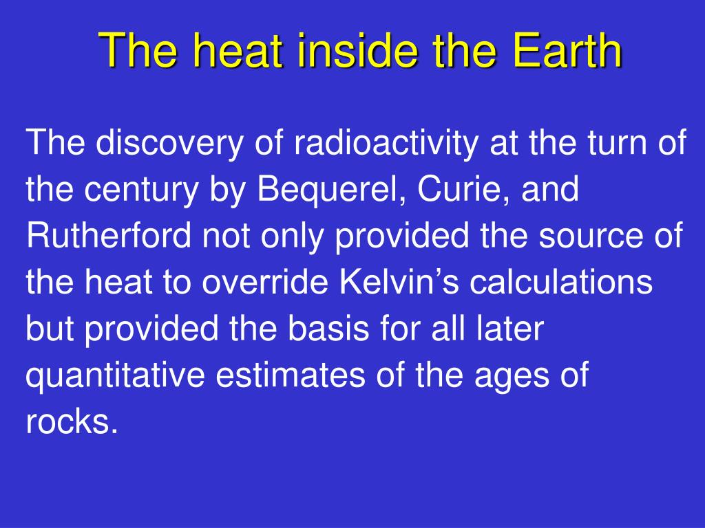 The heat inside the Earth