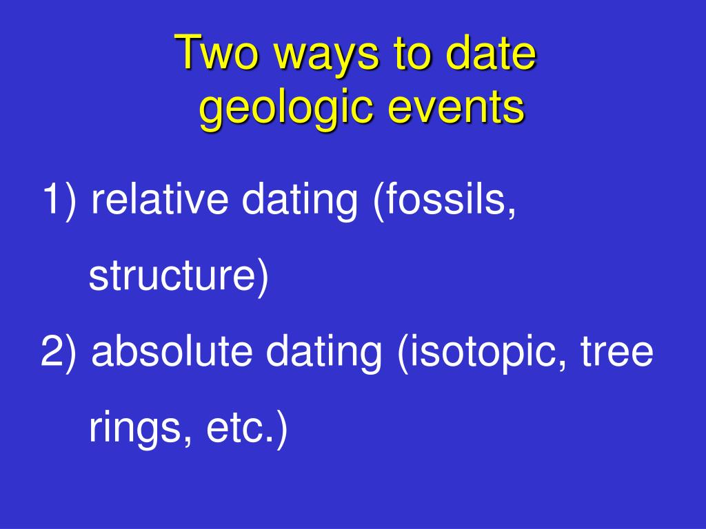 Two ways to date