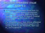 microsoft embedded visual tools 3 0