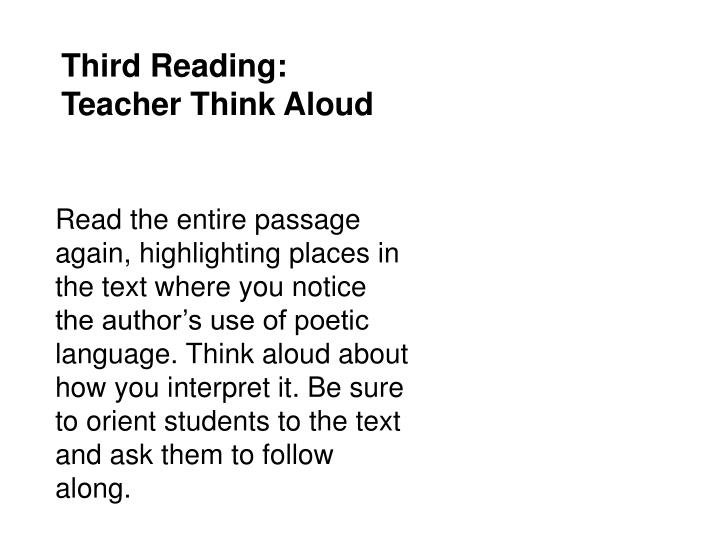 Third Reading: