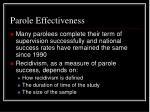 parole effectiveness