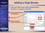 adding a page border