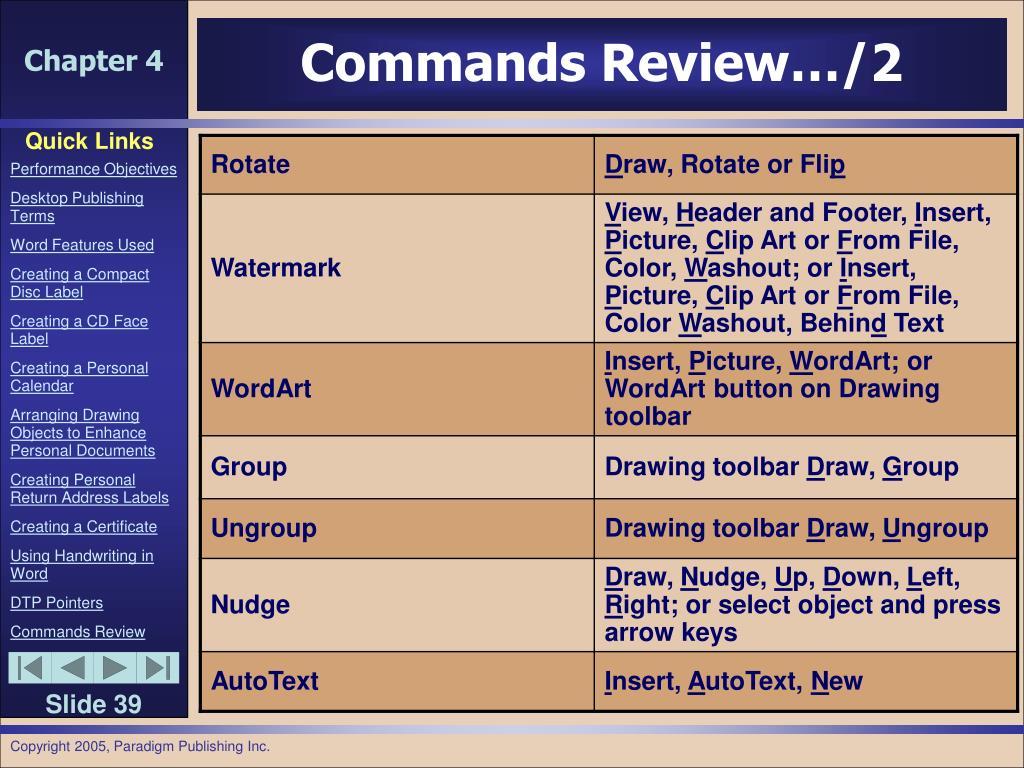 Commands Review…/2
