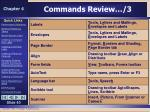 commands review 3