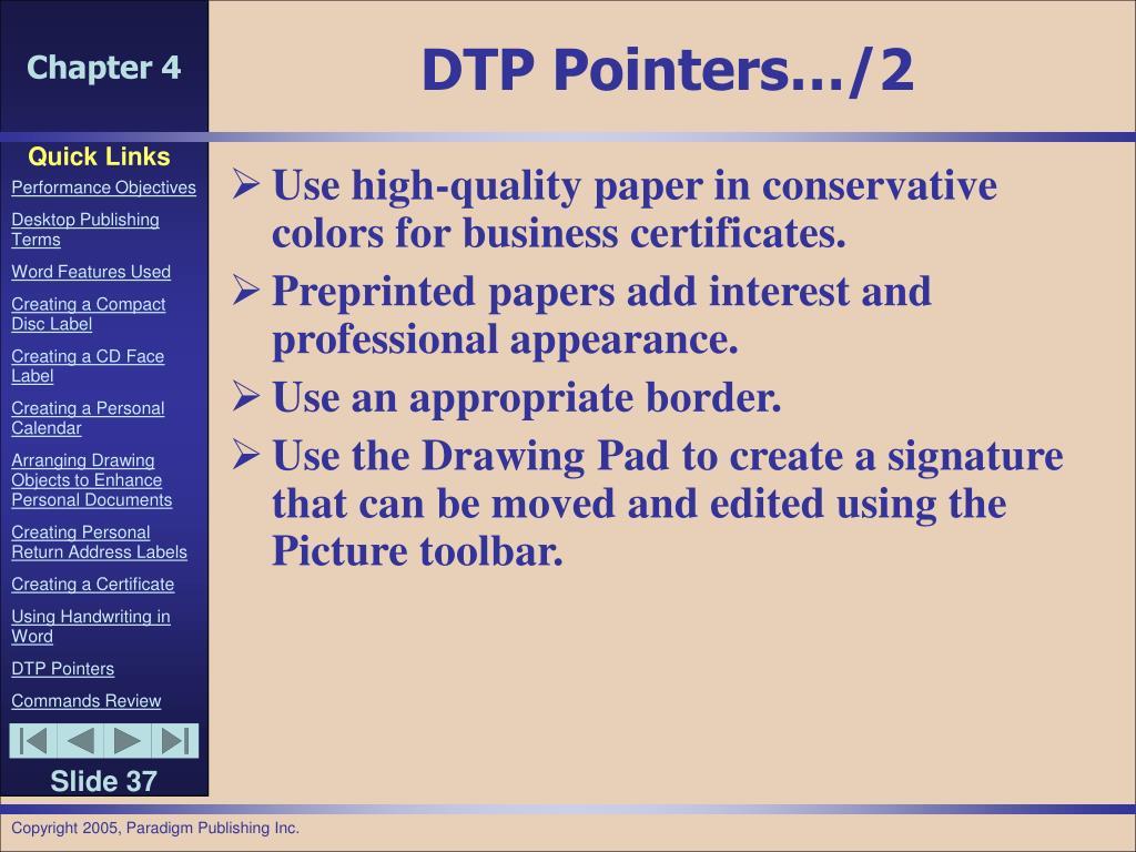 DTP Pointers…/2
