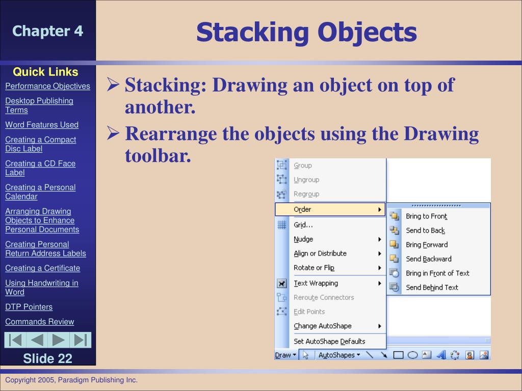 Stacking Objects