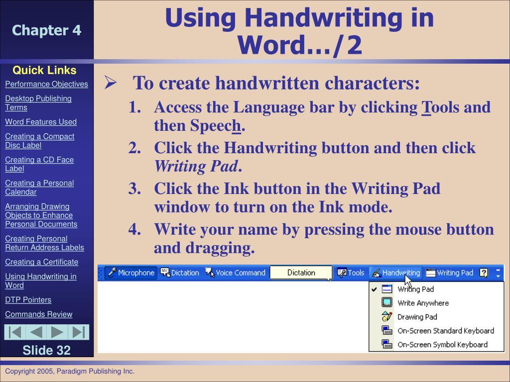 Using Handwriting in Word…/2