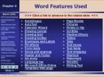 word features used