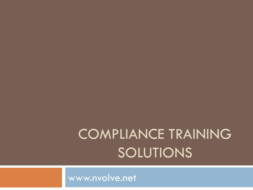 compliance training solutions l.