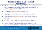 submission of data on api section 2 apimf option1