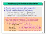 accelerating polynomial evaluation