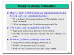 binary to binary translation