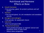 nutritional and hormone effects on bone2