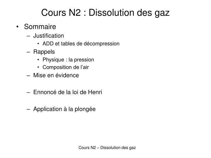 cours n2 dissolution des gaz n.