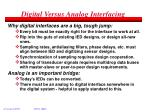 digital versus analog interfacing