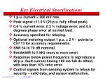 key electrical specifications