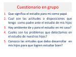 cuestionario en grupo