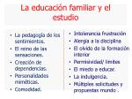la educaci n familiar y el estudio