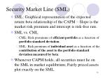 security market line sml