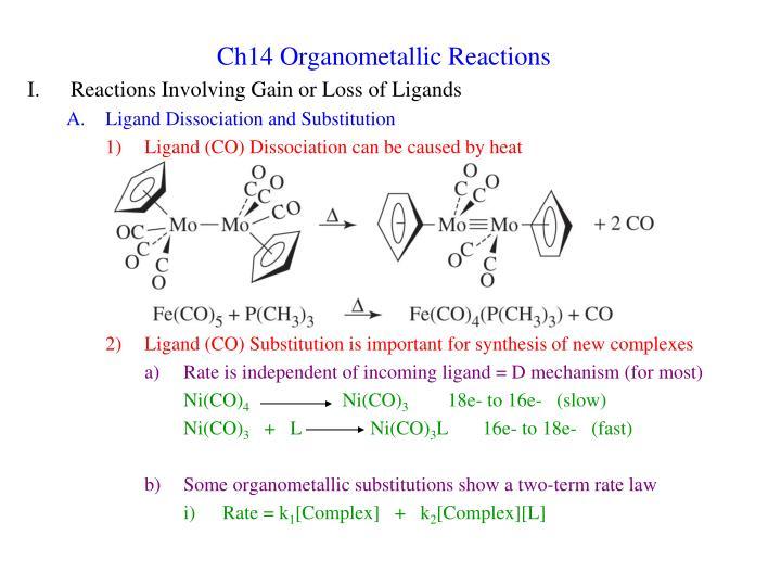 ch14 organometallic reactions n.