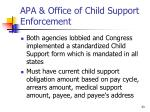apa office of child support enforcement
