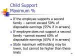 child support maximum