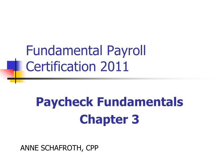fundamental payroll certification 2011 n.