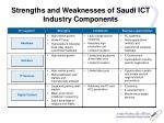 strengths and weaknesses of saudi ict industry components