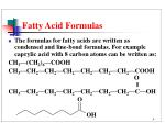 fatty acid formulas