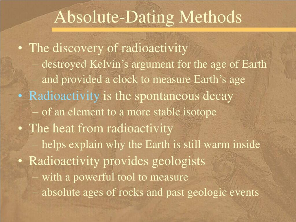 Absolute-Dating Methods