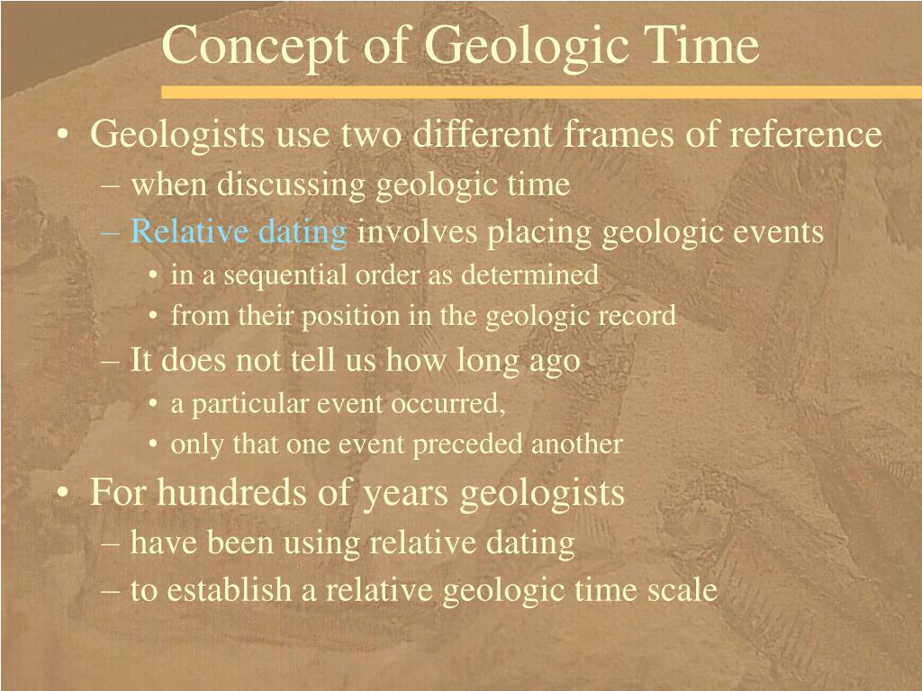 Concept of Geologic Time