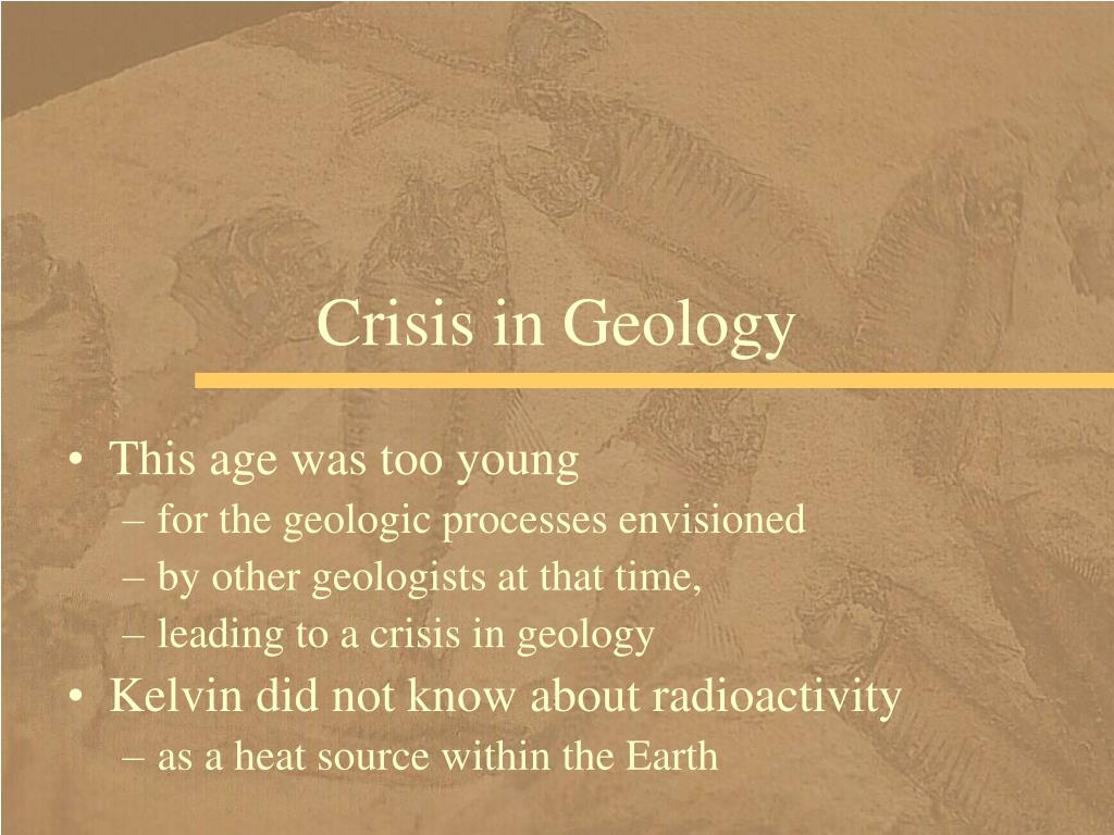 Crisis in Geology