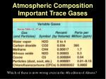 atmospheric composition important trace gases