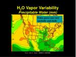 h 2 o vapor variability precipitable water mm