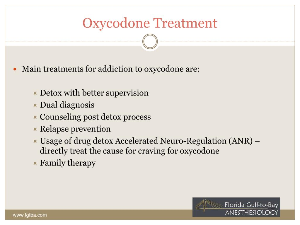 Oxycodone Treatment