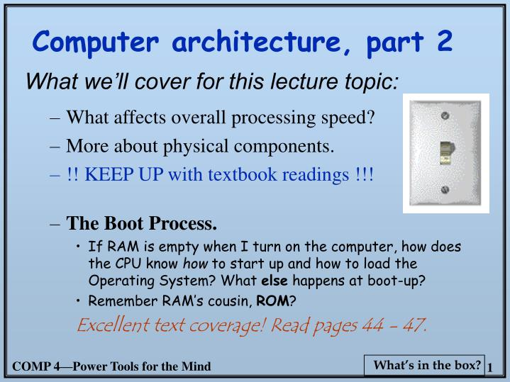computer architecture part 2 n.