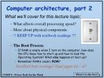 computer architecture part 2