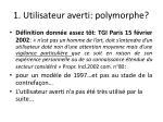 1 utilisateur averti polymorphe