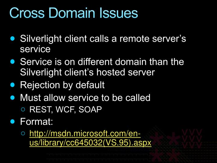 Cross Domain Issues