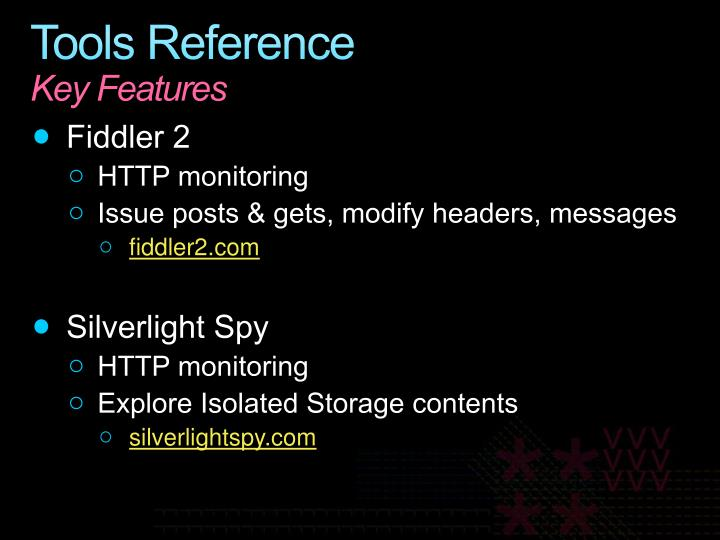 Tools Reference