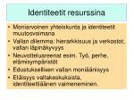 identiteetit resurssina