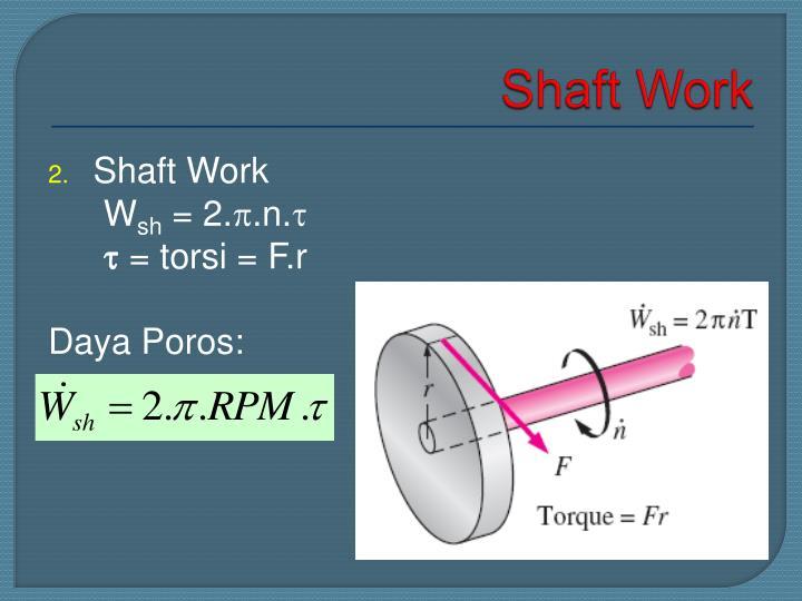 Shaft Work