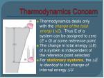 thermodynamics concern