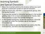 inserting symbols and special characters25