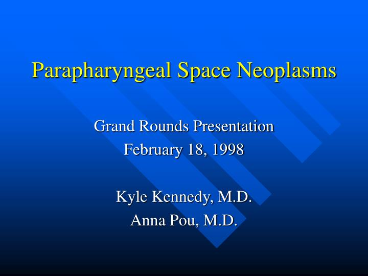 parapharyngeal space neoplasms n.