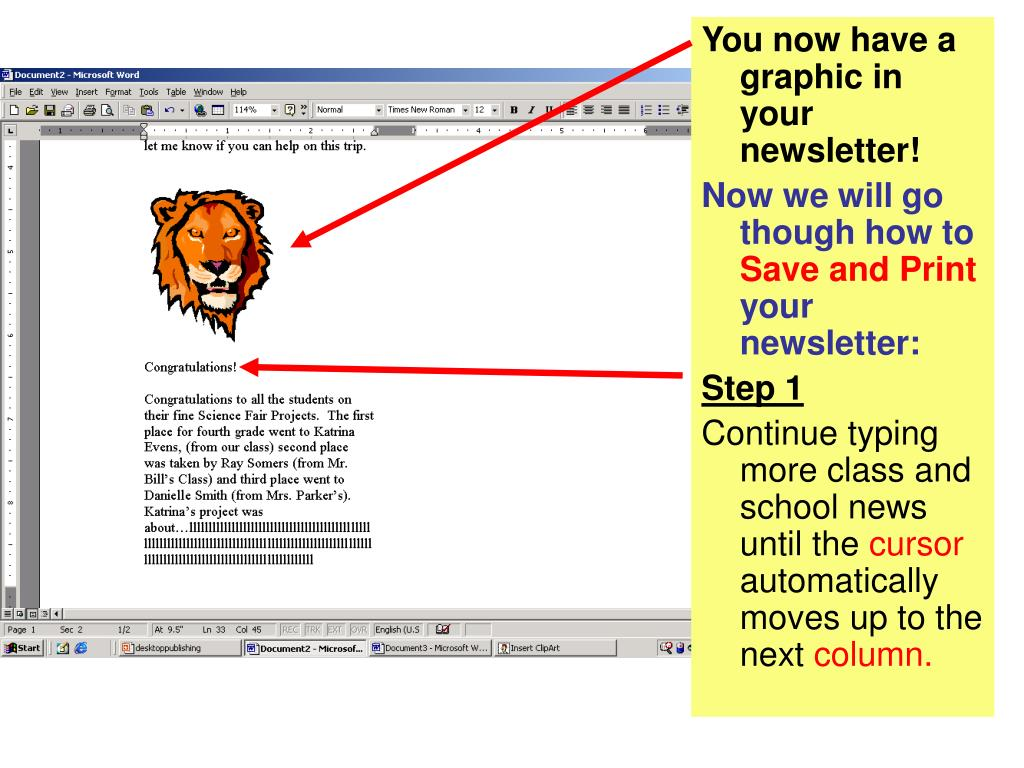 You now have a graphic in your newsletter!