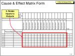 cause effect matrix form3