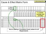 cause effect matrix form4