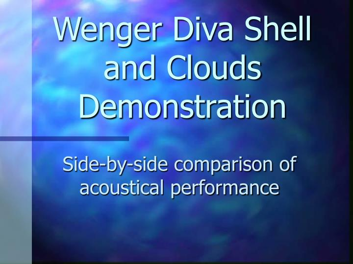 wenger diva shell and clouds demonstration n.