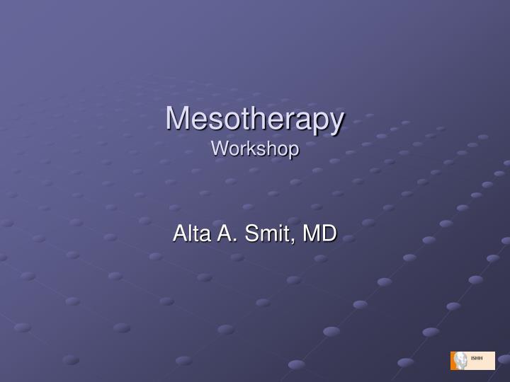 mesotherapy workshop n.